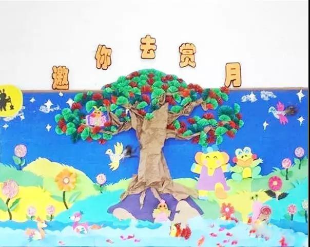 幼儿园中秋节环境创设 手工制作环创